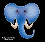 Blue Elephant by Lily-the-pink