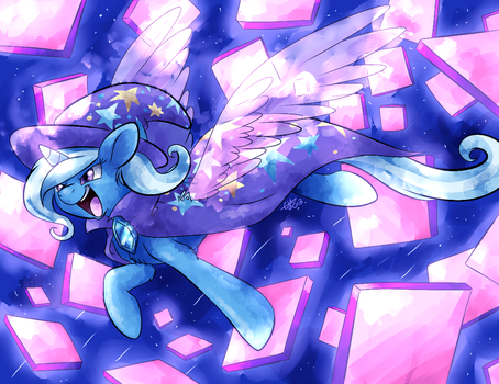 DA GREAT AND POWERFUL TRIXIE CAN BE AN ALICORN TOO by BritishStarr