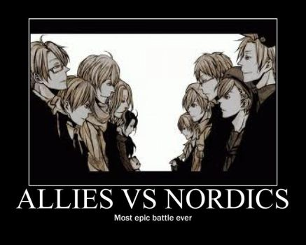 Hetalia MP: Allies VS Nordics by fantasyfan1999
