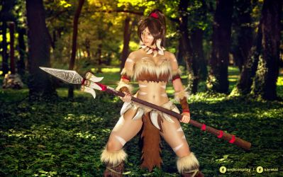 Nidalee - League of Legends cosplay III. by EnjiNight
