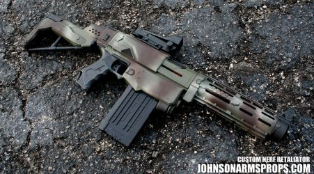 Jungle Camo Nerf Retaliator by JohnsonArmsProps