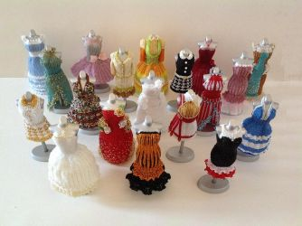 All Together Now - Bead Dresses by pinkythepink