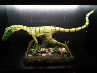 Procompsognathus life size sculpture by OniPunisher