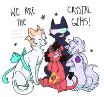 we, are the crystal Cats! by DappleFox