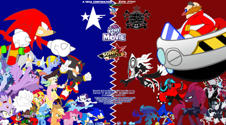 Sonic Forces and MLP Movie : Resistance vs Empire by trungtranhaitrung