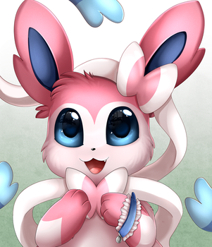 Portrait Comm: Sylveon by pridark