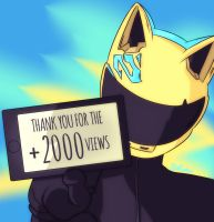 Thank you for 2,000+ pageviews! by DonCorgi