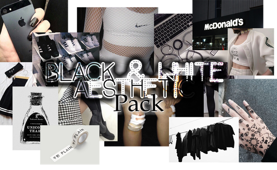 +BLACK AND WHITE AESTHETIC PACK by SolchuDeYT1