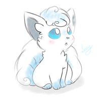 Alola Vulpix by Lucylity