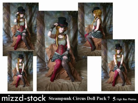 Steampunk Circus Doll Pack 7 by mizzd-stock