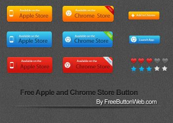 Free Apple and Chrome Store Button by button-finder