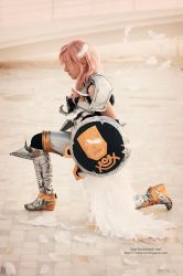 Lightning cosplay - Praying warrior by onlycyn