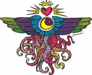 Winged Heart - The Tentacle Collection by lunacatd