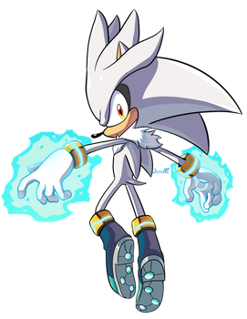 Silver The Hedgehog by JamoART