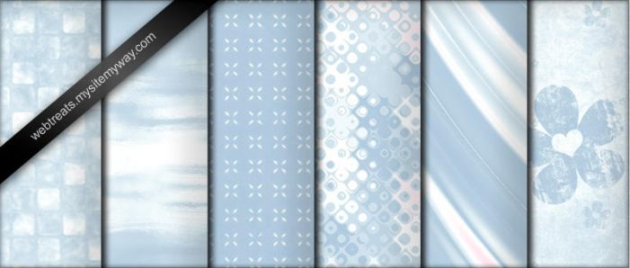 Baby Blue Photoshop Patterns by WebTreatsETC