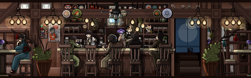 Retro Cafe Redux by Duckpasta