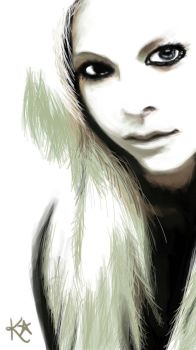 My first digital Avril Lavigne by villepainting
