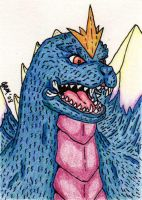 SpaceGodzilla - Color Sketch by jamsketchbook