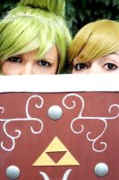 Link and Tetra Legend of Zelda by Chibi-MeNanA