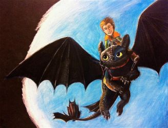 toothless and hiccup- finished by Jillybean345