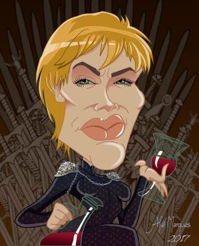 Cersei Lannister - Caricature by alemarques21