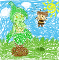 Plant and Insect by Kapus49