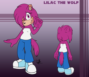 Commission: Lilac the Wolf by Jammerlee