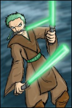 Jedi Zoro by celticangel