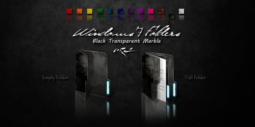 Black Windows 7 Folders by Drawder
