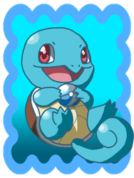 Squirtle with Dive Ball by PandaArtSpresso