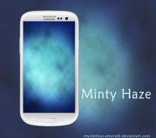 Minty Haze Android Wallpaper by mysterious-emerald