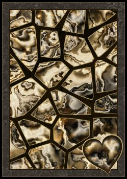 Gold Marble Giraffe Pattern With Marble Heart by KirstenStar