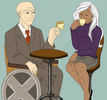 X-Men: Teatime with Charles and Ororo by NancyStageRat