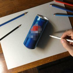 3D drawing Pepsi Can by marcellobarenghi