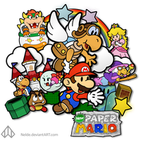 New Paper Mario Group by Nelde