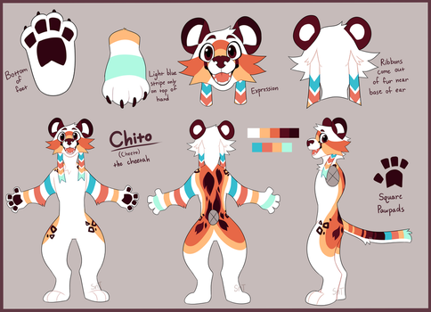 Cheeto Fursuit Ref V2 by Sweet-n-treat