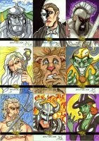 Legends and Lore Sketch Cards by Jayson-kretzer