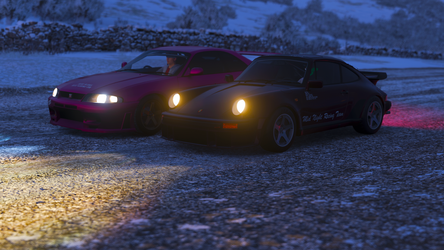 Midnight Racing Team R33 and Porsche 911 3.3 by forzagamer32