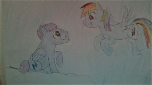 Plasma Blaze and Rainbow Dash- flying buddies by Dracorider19