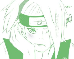 Deidara Bored by LittleKumiko