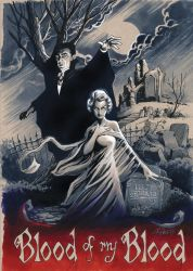 Dracula and Mina, 1931 by andypriceart