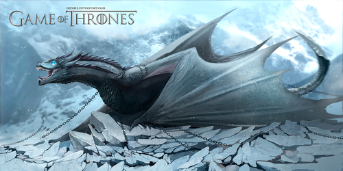 Game Of Thrones Dragon Viserion Ice by IrenBee