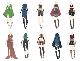 Naruto Outfit Adoptables 8 [CLOSED] by xNoakix3