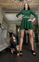 worlds tallest model measure by lowerrider