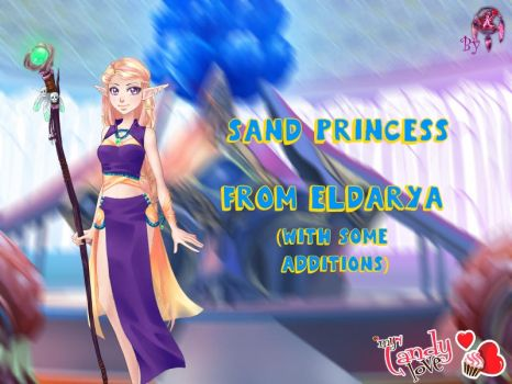 MCL pack- Sand Princess outfit from Eldarya by FNAFfanart67