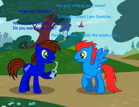 Softbeat meet to Sketcher (TableSketchBRony) by BG93-Sketches