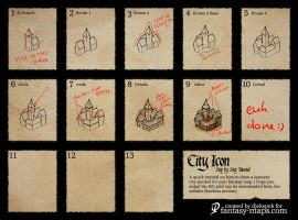 fantasy map - step by step city icon by Djekspek