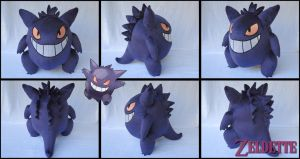 Gengar plush - Pokemon by Miss-Zeldette