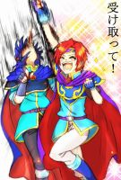 Marth and roy...? by ituki-t