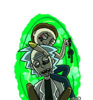 Mortys Rule, Ricks Drool by Kziira